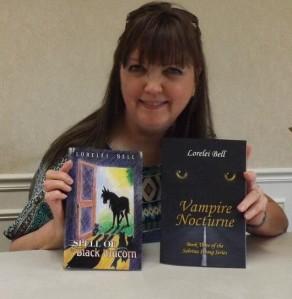 Lorelei at my book signing 2013 April